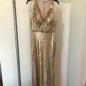 Bari Jay 1601 gold sequin gown